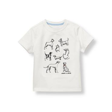 French Ivory Dogs Tee at JanieandJack