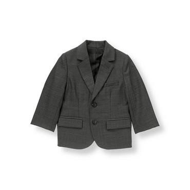 Grey Herringbone Herringbone Suit Blazer at JanieandJack