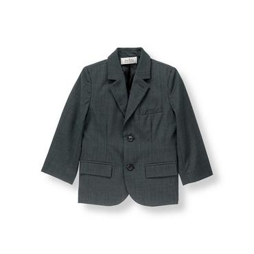 Classic Grey Wool Suit Blazer at JanieandJack