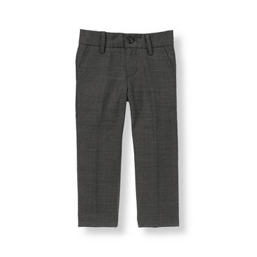 Grey Herringbone Herringbone Suit Trouser at JanieandJack