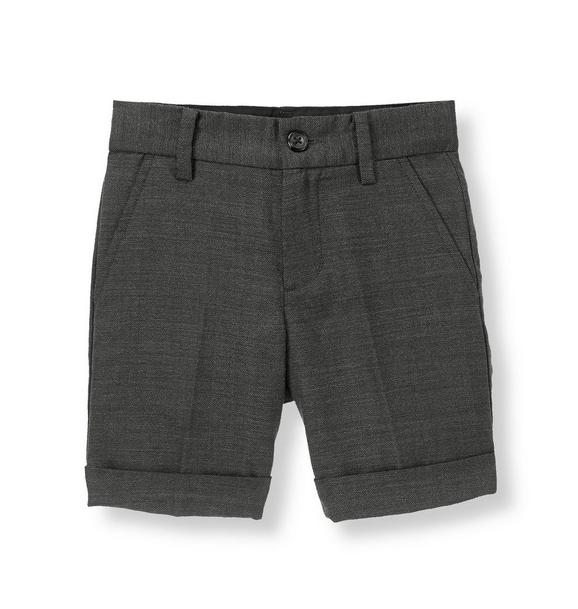 Herringbone Suit Short