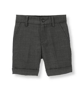 Herringbone Suit Short