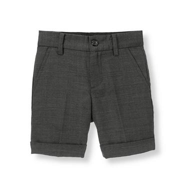 Grey Herringbone Herringbone Suit Short at JanieandJack