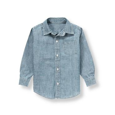 Chambray Blue Chambray Shirt at JanieandJack