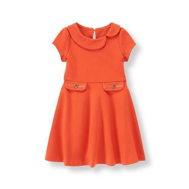 Bright Mandarin Ponte Riding Dress at JanieandJack