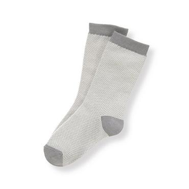 Boys Ivory Herringbone Herringbone Sock at JanieandJack