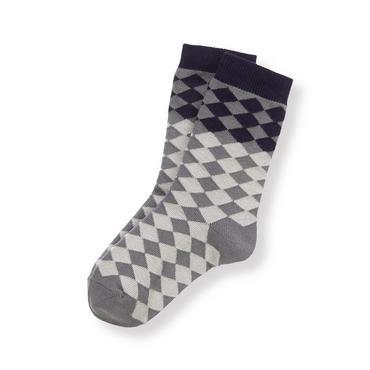 Boys Grey Diamond Argyle Sock at JanieandJack