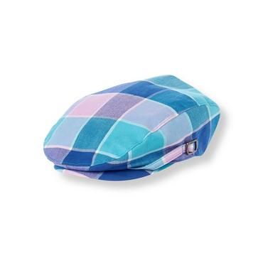 Tidal Blue Plaid Plaid Cap at JanieandJack