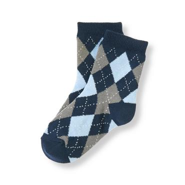 Boys Navy Argyle Argyle Sock at JanieandJack