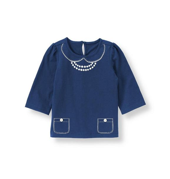 Button Necklace Top
