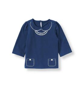 Button Necklace Top