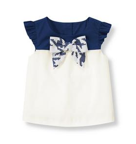 Bow Colorblock Top