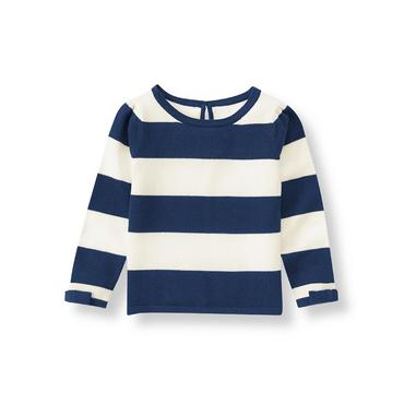 Navy Stripe Striped Sweater at JanieandJack