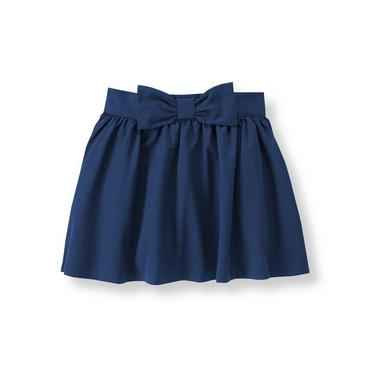 Navy Bow Skirt at JanieandJack