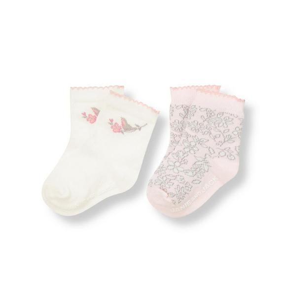 Songbird Floral Sock Two-Pack