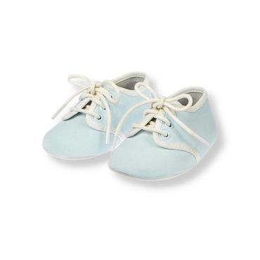 Baby Boy Train Blue Corduroy Crib Shoe at JanieandJack
