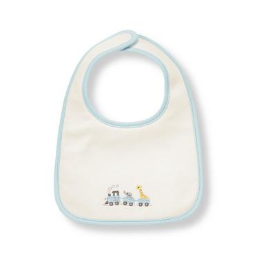 Ivory Train Bib at JanieandJack