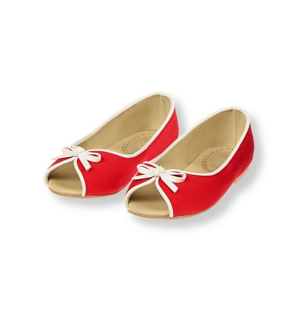 Peep Toe Ballet Flat