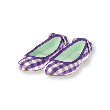 Royal Purple Check Gingham Ballet Flat at JanieandJack