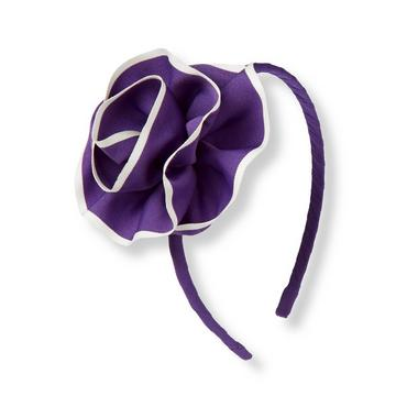 Royal Purple Rosette Headband at JanieandJack