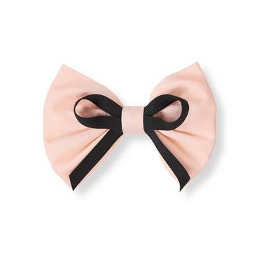 Parisian Pink Ribbon Bow Barrette at JanieandJack