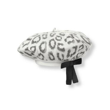 French Ivory Leopard Leopard Sweater Beret at JanieandJack