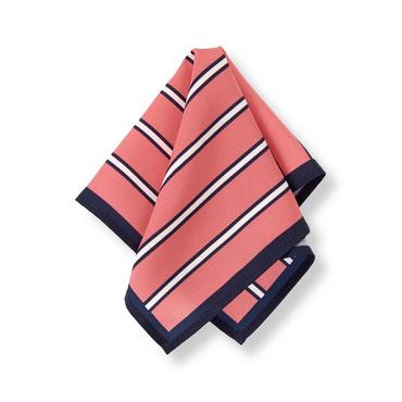 Salmon Stripe Striped Pocket Square at JanieandJack