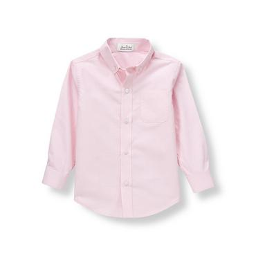 Pink Dobby Dress Shirt at JanieandJack