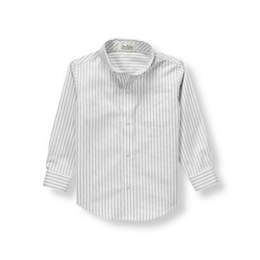 Grey Stripe Striped Dress Shirt at JanieandJack