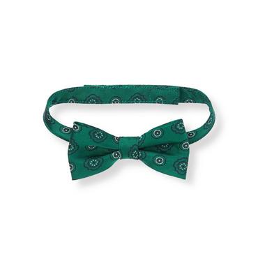 Emerald Green Patterned Bowtie at JanieandJack