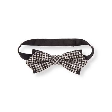 Black Check Houndstooth Bowtie at JanieandJack