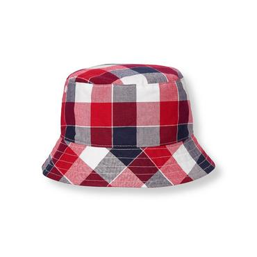 Boys American Red Plaid Plaid Bucket Hat at JanieandJack