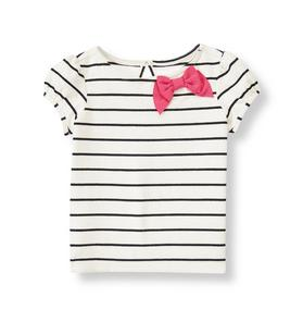 Bow Striped Top