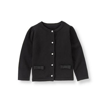 Black Bow Pocket Cardigan at JanieandJack