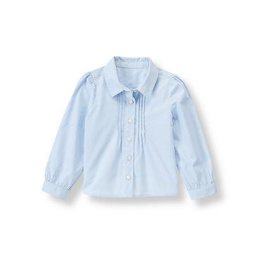 Indigo Pintucked Top at JanieandJack