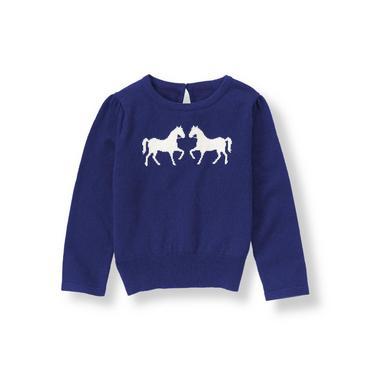 Dark Sapphire Horse Sweater at JanieandJack