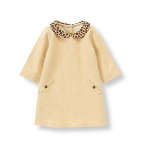 Leopard Collar Dress