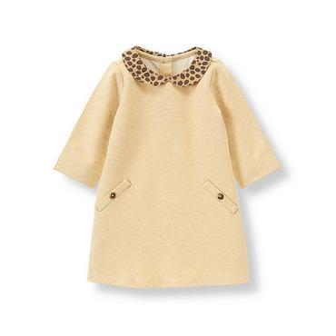 Camel Leopard Collar Dress at JanieandJack