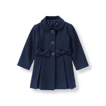 Violet Bow Felt Coat at JanieandJack