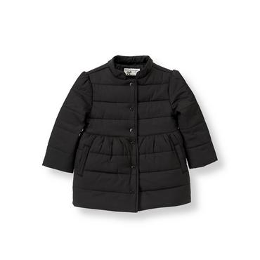 Black Puffer Coat at JanieandJack