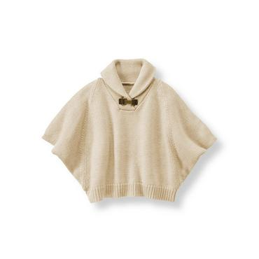 Light Tan Sweater Poncho at JanieandJack