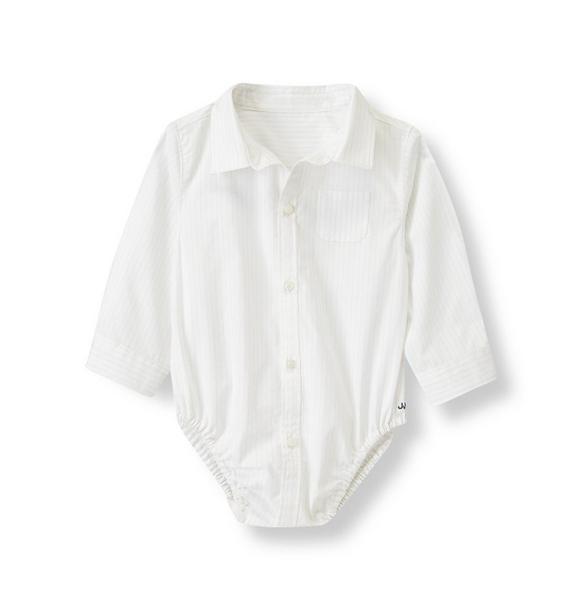 Pinstriped Shirt Bodysuit
