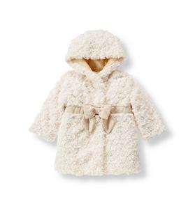 Furry Bow Coat