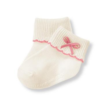 Ivory Bow Sock at JanieandJack