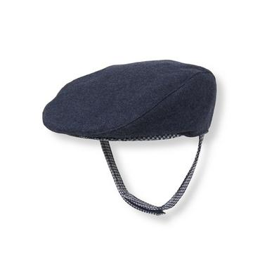 Navy Houndstooth Houndstooth Trim Cap at JanieandJack