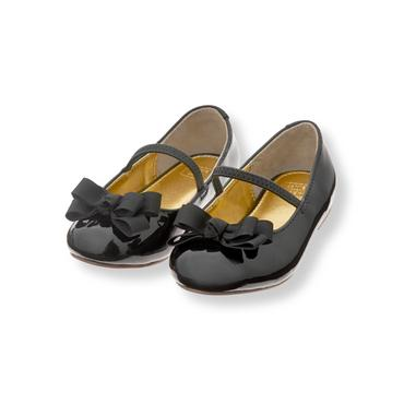 Black Patent Bow Flat at JanieandJack