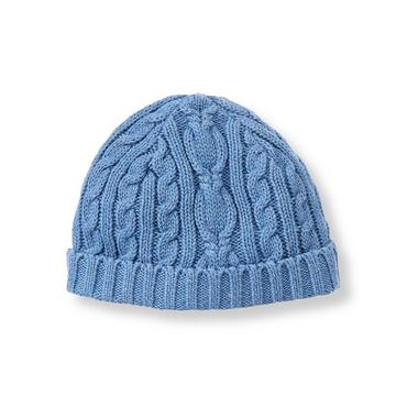 Cornflower Blue Cable Sweater Hat at JanieandJack