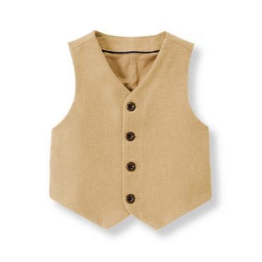Tan Twill Suit Vest at JanieandJack