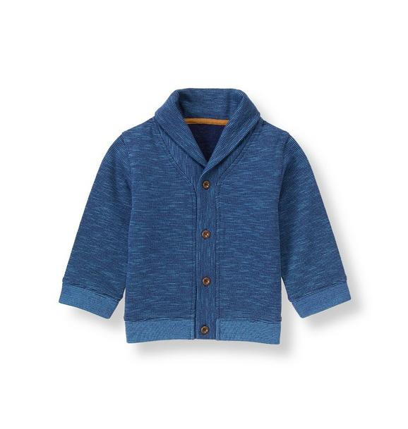 Shawl Collar Striped Cardigan