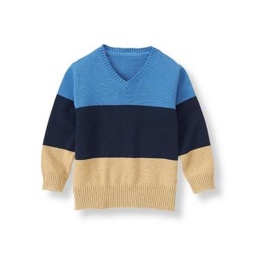 Cornflower Blue Colorblock Sweater at JanieandJack